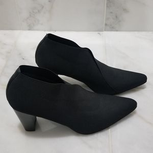 Stuart Weitzman Pointy-toe Elastic Band Booties